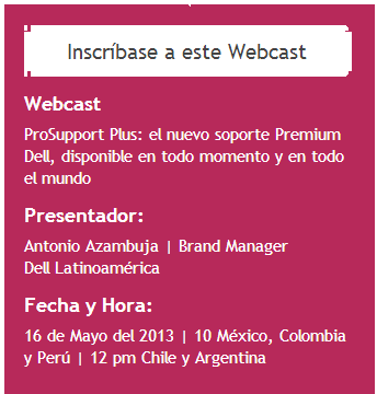Webcast Dell 15Mayo