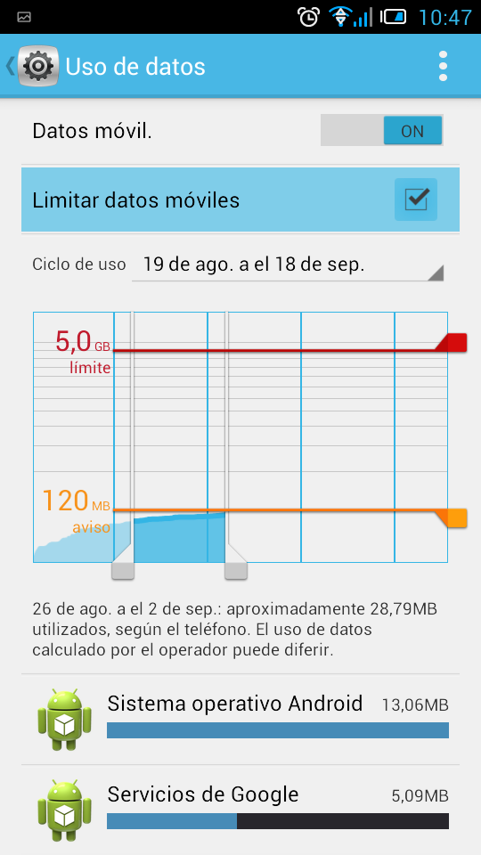 Limite red Movil Android 07